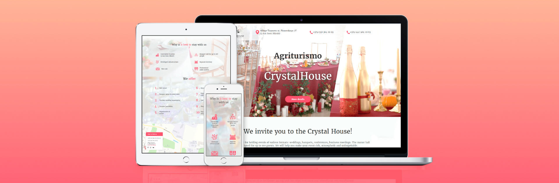 Creation of a site for an agriturismo crystal-house