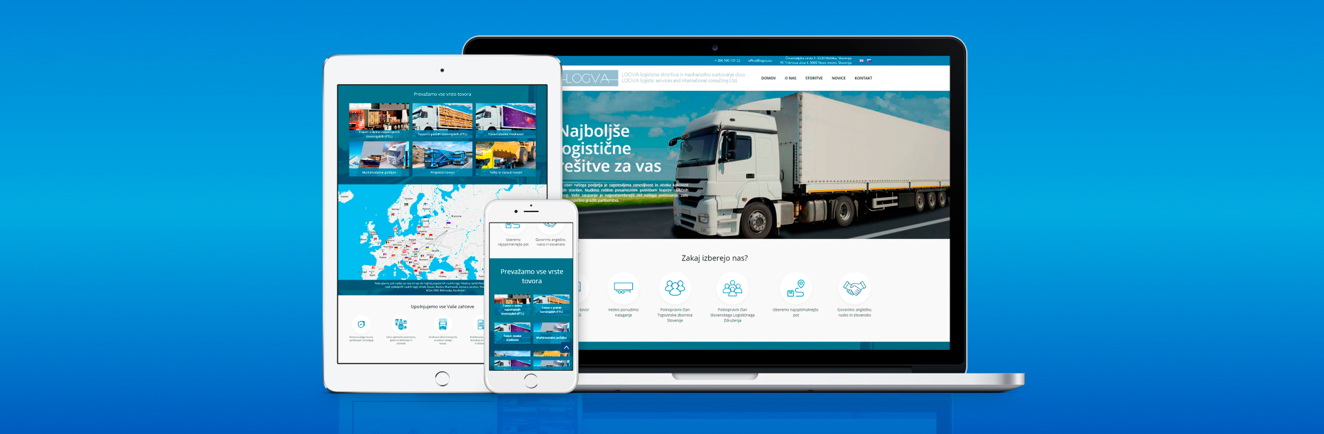 Making a corporate website for a transport organization