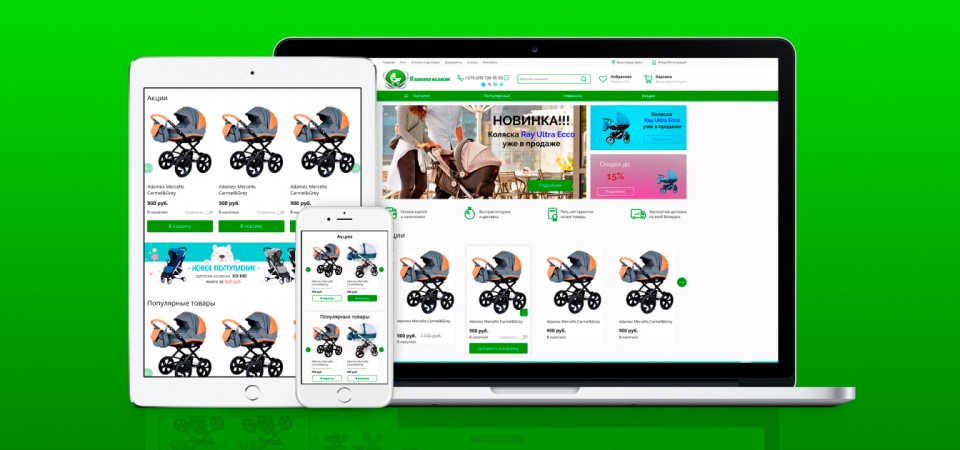 Development and promotion of an online store for baby strollers